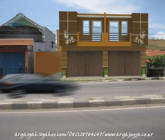 Desain Eksterior Fasad Ruko Minimalist 2 Lantai Redy Design